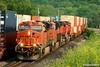 Busy Times in Kansas (Jeff Carlson_82) Tags: railroad train ks railway kansas bluffs ge shawnee railfan bnsf zarah intermodal doublestack burlingtonnorthernsantafe es44dc gevo 7492 stacktrain transcon