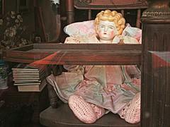 Edith Ann (DannyAbe) Tags: wood chair doll antiques knitted