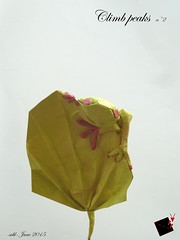climb peaks n°2 (-sebl-) Tags: new green climb leaf origami version frog peaks lokta sebl
