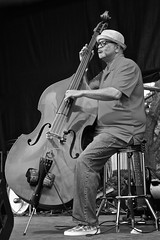 Bass in Profile (tim.perdue) Tags: ohio summer bw musician music white black monochrome festival concert outdoor live performance band jazz blues musical instrument creekside 2015 gahanna