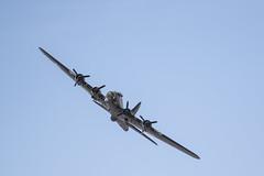 B-17 Flying Fortress Sally B (kerryn rice) Tags: blue usa plane canon star flying aircraft somerset airshow b17 boeing bomber fortress gunner westonsupermare sallyb usaaf gbedf westonairshow 7dmark2 194554