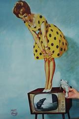 Not just one but two mice! (Canadian Pacific) Tags: old holland netherlands dutch television museum vintage poster mouse corporate marketing tv industrial nederland eindhoven philips promotional 31 televisie noordbrabant muis emmasingel koninkrijkdernederlanden p1010355 mrmousephilips