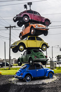 Grabbing Attention  with a Pile of VW Beetles