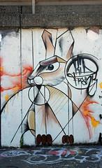 Kaninchen. (universaldilletant) Tags: frank graffiti kid frankfurt hase kaninchen ratswegkreisel
