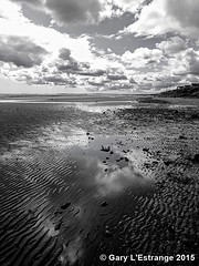 Bettystown to Laytown beach (garylestrangephotography) Tags: ireland sea sky cloud white black reflection beach water puddle grey coast sand phone sony east shore lowtide z3 bettystown meath laytown xperia garylestrangephotography