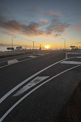 I Was Standing At The Crossroads (andrewfuller62) Tags: road lines sunrise golf dawn highway tasmania roads crossroads teatree