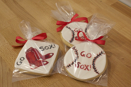 Red Sox Sugar Cookies