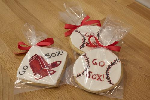 Red Sox Sugar Cookies
