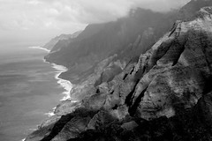 Kauai 2016 (chiarina606) Tags: kauai hawaii island islandlife blackandwhite chiarinaloggia napali napalicoast coast helicopter helicopterride cliffs spectacular seascape