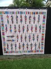 Mum's Birthday Quilt (julielou41) Tags: reversible feather moroccoquilt annamariahorner kaffefassett tulapink amybutler vernamosquera