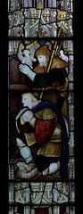 Alveley, Shropshire, St. Mary the virgin, nativity window:  shepherds