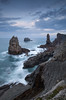 Los Urros (Philippe Saire || Photography) Tags: canon eos 5d mark iii ef 1740mm f4l usm nature paysage landscape seascape eau water mer sea ocean losurros liencres cantabrie cantabria espagne spain españa costa quebrada pierre rock rocher stone long exposure wideangle jetée shore côte coast shoreline littoral coastline hoya nd400 cokin p121s gnd8 heure bleue blue hour ciel sky nuages clouds horizon vague wave cliff falaise photo photography fullframe ff pleinformat philippesaire