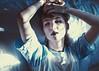 Déjà Vu (Erica Almquist) Tags: portrait selfportrait self selfie light sunlight sunset goldenhour winterlight winter blue tones colors hat fashion face expression girl woman