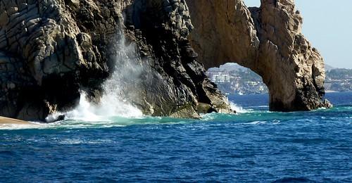 Waves Crashing at Land's End, Cabo San Lucas, Mexico