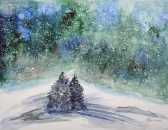 393 Merry Christmas (Wuwus Bilder) Tags: watercolour ownpaintig art kunst aquarell weihnachten