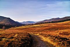 Moorland track (Fr Paul Hackett) Tags: moorland mountain track sunshine newtonmore kingussie