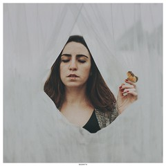 rebirth (Ana Luísa Pinto [Luminous Photography]) Tags: ana art analuísapinto analuisapinto selfportrait self selfie frame edit portrait photography photoshop conceptual concept white veil rebirth butterfly butterflies