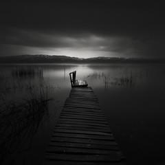 ! (Yucel Basoglu) Tags: turkey blackandwhite fineart yucelbasoglu canon canon5dmarkiii landscape longexposure pier lake