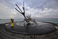 Tourist of a Tourist of a Tourist (csnyder103) Tags: reykjavik iceland sculpture viking water harbor clouds wideangle canoneos6d canonef1124