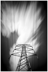 Direction of travel (JakaPH Photography) Tags: landscape brisbane queensland qld australia long exposure outdoor power line tower clouds cloudy black white bw movement motion midday monochrome leading lee little stopper nd 6 10 16 architecture abstract art artistic