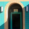 (msdonnalee) Tags: door doorway arch tile tilework shadow ombra ombre schatten turquoise sombra тень porto puerta porte ドア dyr дверь entry