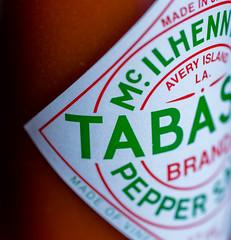 Some Like It Hot (PhilR1000) Tags: macromondays inspiredbyasong macro tabasco sauce label text red hot pepper brilliant explored