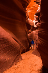 Lower Antelope Canyon (BrandonSlames) Tags: arizona antelope canyon landscape nature explore selfie waves nationalparks parks geographic scale person proportion lines outdoors outdoor vertical