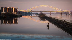 Runcorn Bridge (2 of 5) (andyyoung37) Tags: manchestershipcanal reflections runcorn runcornbridge uk cheshire rivermersey sunrise england unitedkingdom gb