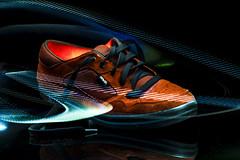 Hotshoe (mik-shep) Tags: 365the2017edition 3652017 day13365 13jan17 lightpainting easle shoe trainer red light longexposure onblack sneaker