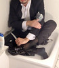 white-tie-shower-1_10300361003_o (shinydressshoes) Tags: tails tailcoat tuxedo suit muddy gunge wet shiny shoes shinyshoes leather patent dressshoes groom wedding whitetie frack formal shower lackschuhe lackschuh