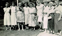 Drag Queens (~ Lone Wadi ~) Tags: drag dragqueens crossdressers outdoors lostphoto retro 1950s group