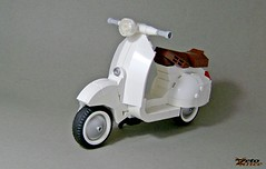 Vespa - LEGO Ideas project (ZetoVince) Tags: vince zeto zetovince lego greek vespa scooter vehicle ideas cuusoo wasp motor bike cycle piaggio