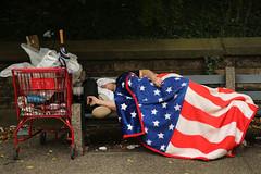 america (idnyul7) Tags: park topics socialissues horizontal fulllength blanket sleeping usa homelessness newyorkcity bench poverty adult americanflag brooklynnewyork men america topix bestof toppics boroughdistricttype bestpix newyork ny unitedstates