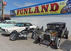 Welcome to Funland... (Harleynik Rides Again.) Tags: chopper motorcycle mustang v8 v2 customcar victorywheelers nikond810 harleynikridesagain