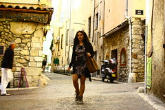 Streets of Monaco (Rashi Kalra) Tags: travel blue red woman brown france streets tourism beach beautiful french carpet coast nice europe riviera cannes turquoise indian guard azure royal f1 monaco solo cote luxury maiden antibes francais traveler outdoorsy dazur
