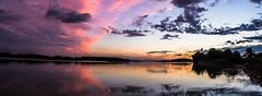 Panorama sul PO (A.I. Foto) Tags: tramonto nuvole fiume natura cielo po acqua corsodacqua
