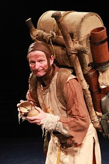 """Andy Taylor as Patsy in the 2010 Music Circus premiere of the Tony Award-winning Best Musical """"Monty Python's Spamalot"""" at the Wells Fargo Pavilion, July 9-18.  Photo by Charr Crail."""