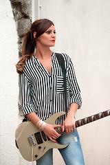 (Maria Galetta) Tags: portrait music woman girl rock blackwhite donna model glamour nikon guitar persone musica ritratto bianconero chitarra electricguitar