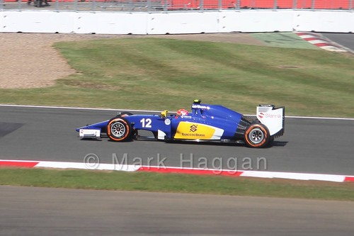 Felipe Nasr in Free Practice 1 for the 2015 British Grand Prix at Silverstone