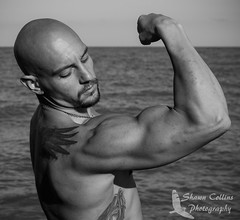 Fitness Model Joshua (Shawn Collins Photography) Tags: portrait hairy male wet smile muscles dedication tattoo canon beard photography goatee model arms modeling outdoor masculine muscular chest smooth tattoos stare bodybuilder fitness gym tough abs photosession built fit malemodel scruff physique markii sexappeal portraitphotography fitnessmodel outdoorphotoshoot shredz