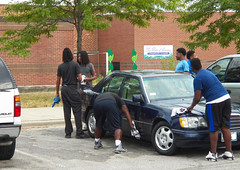 Blue Machine 0453 (AHummons Photography) Tags: blue school people chicago man black male men sports public car work football high community image secret young machine teenagers august wash together africanamerican lives positive athlete fundraiser simeon mentor teenage teammates 2015 structured aprilhummonsphotography