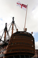 034 (Stevie mills) Tags: ship harbour flag nelson hampshire portsmouth woodenboat hmsvictory historicaldockyard summer2015