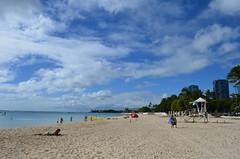 Ala Moana Beach Park (trailwalker52) Tags: hawaii alamoana beach oahu lifeguard sand ocean suntanning suntan paradise relaxing beachpark