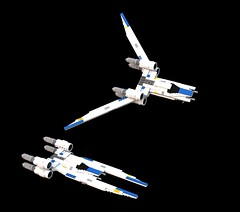 Who shot J.R. U-Wing? (SPARKART!) Tags: starwars rogueone ut60d uwing sparkart toy spaceship lego scifi