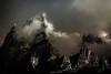 Clair-Obscur sur les Cimes (Frédéric Fossard) Tags: art surréaliste abstrait paysage nature montagne cime crête arête nuage soir nuit lumière ombre lueur atmosphère ciel vent grain texture grandscharmoz blaitière alpes hautesavoie massifdumontblanc toile clairobscur aiguillerocheuse
