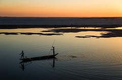 A Beautiful Evening on Brahmaputra (arunchs) Tags: brahmaputra majuli assam northeastindia river sunset boat india