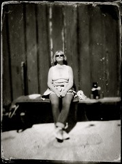 Maybe there will be some tan... (iEagle2) Tags: iphone iphone4 tintype woman wife ehefrau sweden female femme frau