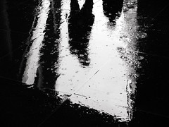 DSCF1797 (Neil Johansson LRPS) Tags: fuji fujifilm x30 fujifilmx30 digital black white blackandwhite monochrome light dark noir filmnoir cinematic urban urbanphotography streetphotography puddles water reflections rain liverpool merseyside england northwest uk