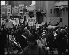 All That Twitter Is Not Gold (thereisnocat) Tags: pentax pentax67 165mm protest womensmarch womensmarchap asburypark monmouthcounty newjersey nj hp5
