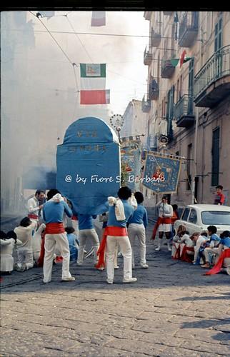 Napoli (NA), 1973 e 1974, Cerimonie di inizio del pellegrinaggio dei fujenti di Madonna dell'Arco.